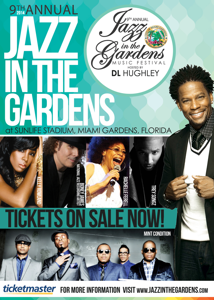 Tickets For The 9th Annual Jazz In The Gardens Are