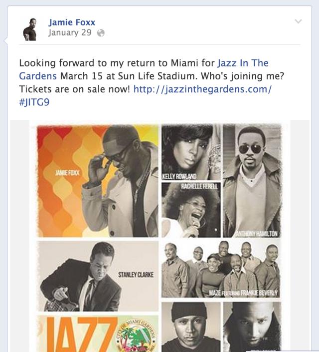 Jamie Foxx Can't Wait To Rock #JITG9